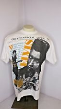 Vtg 90s Elvis Presley All Over Print King of Rock and Roll White T-Shirt News XL