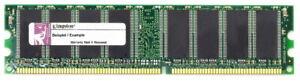 1GB Kit (2x512MB) Kingston DDR1 RAM PC3200U 400MHz CL3 Kvr400x64c3ak2/1g