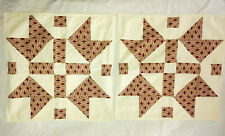 Pillow Covers Set of 2 Browns Cream 17 x 17 Hand Quilted New Handmade