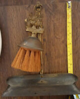 Vintage England Brass Silent Butler Crumb Sweeper Catcher Brush & Tray Nautical