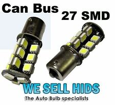 CANBUS 382 (P21W) 27 WHITE SMD LED ERROR FREE REVERSE LIGHT BULBS