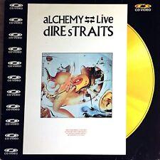 CD VIDEO FORMAT LP 33 TOURS DIRE STRAITS ALCHEMY LIVE 12'' SIZE GOLD DISC RARE
