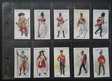 More details for players 1914 regimental uniforms 2nd series brown back - set 50 cigarette cards
