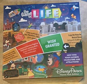 Game of Life Disney Theme Park Edition Board Game NEW factory sealed