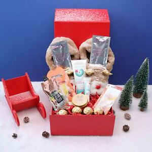 Reindeer Self Care Pamper Gift Box for Her