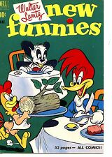 Woody Woodpecker-Wood Log Meal-New Funnies Lantz Art Comic Cover-Modern Postcard