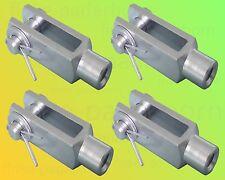 4 x Gabelkopf 6x24 M6 inkl Splintbolzen DIN71751 verzinkt Gabelgelenk Gabelköpfe