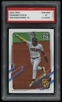🌟 2021/21 Fernando Tatis Jr. Topps Draft 1st Graded 10 San Diego Padres Card🌟