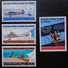 Comores, PA n°247 à 250, Avion, transport du courrier par avion, 1987, N**