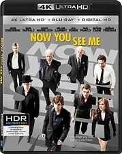 NOW YOU SEE ME (4K ULTRA HD) - Blu Ray - Sealed Region free
