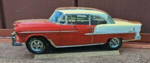 "Bel Air red classic wooden plaque, shelf sitter, 9 1/2"" x 3 5/8"" x 5/8"""
