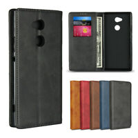 For Sony Xperia XA2 Ultra Luxury Magnetic Leather Wallet Flip Case Cover Stand