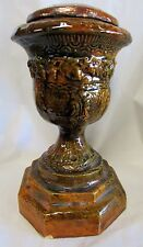 OLD ANTIQUE AUSTRALIAN POTTERY PLANTER URN JARDINEER COLONIAL POT PLANT STAND