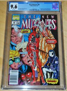 New Mutants 98 CGC 9.6 WP NEWSTAND!