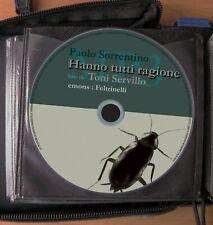 Audiolibro audiobook cd MP3  HANNO TUTTI RAGIONE  Paolo Sorrentino / usato