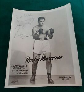 Rocky Marciano Hand Signed Autographed 8 x10 Official Photograph
