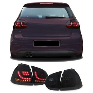 DYNAMIC TURN SIGNALS SMOKED LED TAIL LIGHTS LAMPS VW GOLF MK5 10/2003-9/2008