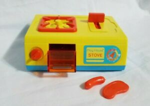 Vintage Tomy Play House Kitchen Stove Cook Top Toy Plastic Japan
