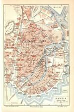 Antique map. POLAND. CITY MAP OF GDANSK. 1905