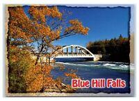 Postcard Blue Hill, Maine ME Autumn View of Blue Hill Reversing Falls MS143A