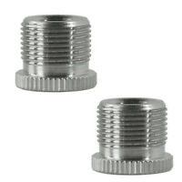 2x Metal Adapter 5/8'' Male to 3/8'' Female Mic Screw for Mic Microphone Stand