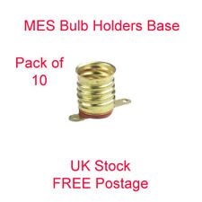 10 x MES Bulb Holder Base Miniature Screw lamp E10 low voltage