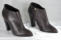SUPER SEXY !!! Giuseppe Zanotti  HI HEEL BROWN LEATHER ANKLE BOOTS EU 41 US 10