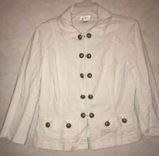 Ann Taylor Loft Women's White Jean Jacket Size 10
