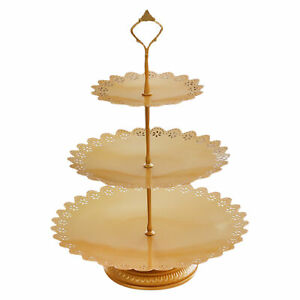 Home Bakeware Round Cake Stand Display Holder Fruit Plate With Carry Handle