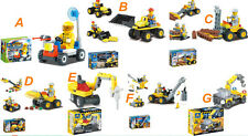 Kids Boys DIY Construction Machinery Educational Toys Building Blocks Bricks