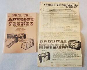 How to Repair Decorate Restore Antique Trunks Labuda Order List Booklet Book