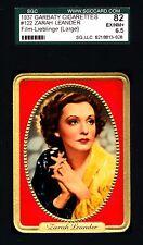 Zarah Leander -1937 Garbaty Film Lieblinge Card #122;Passion Cig; SGC 6.5 (E-NM)