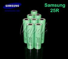 8 Authentic Samsung 25R INR 18650F 2500mAh/20A High Drain Rechargeable Battery