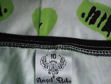 ANGEL BIBA GreenWhite35%CottonMixBodySuitSz10NWoT