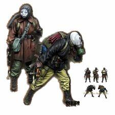 1/35 Soldados De resina Figura MODELO CONJUNTO Stalker Metro Chernóbil 2 Figuras Sin Pintar