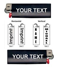 Design Your Bic Lighter Vinyl Decal Sticker Customized Name Text Gift B8288