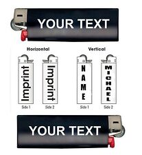 Personalized Bic Lighter Vinyl Decal Sticker Customized Name Text Gift B8288
