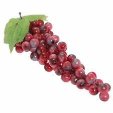 Artificial Bunch of Grapes Red Faux 85 PE Decorations for Wedding Party 27C L2N2