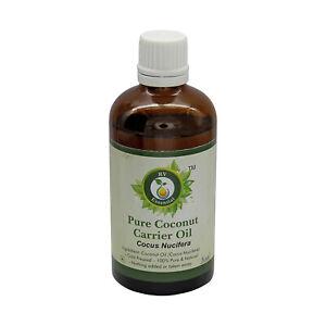 R V Essential Pure Coconut Oil Cocus Nucifera Cold Pressed Unrefined For Hair