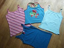 Lot t 36  4 débardeurs H&M Kookai Cache Cache bleus et rose motif pommes