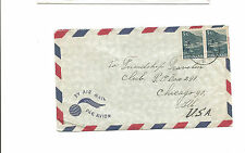 Surinam airmail cover to Chicago IL