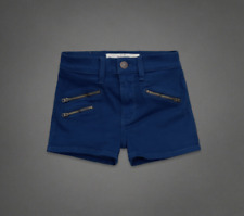 NWT Abercrombie & Fitch Women's High Rise Shorts Blue Size#8
