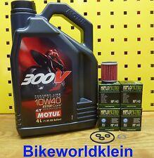 YAMAHA WR 450F 09-16 4l öl + 4 Filtro de Aceite Motul 300v 10w40 MOTOR JUNTAS