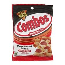 Combos Pepperoni Pizza Crackers 178g 6.3oz (PACK OF 6) Expiry Dated 07/2020