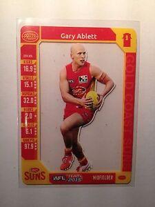 2015 Teamcoach Team Coach Prize Card Gary Ablett Gold Coast Suns Geelong