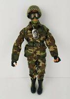 Vintage GI JOE Hasbro '96 Green Face Camo Clothes Dog Tags Helmet Googles Boots