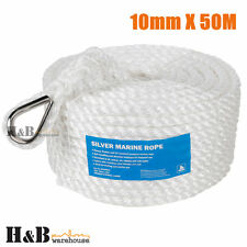 10mm x 50M Anchor Marine Rope Boat Mooring Line Stainless Steel Thimble C0074