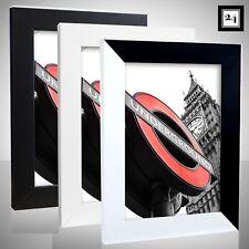 Bilderrahmen London Holz MDF Foto Poster Rahmen Schwarz Weiß  60Größen Günstig