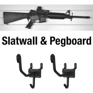 Horizontal Slatwall and Pegboard Gun Cradles - 10 Pack