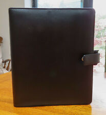Filofax Identity A5 Organizer Black Leather Look with some inserts / 6 Ring